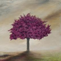 Dusty blossom tree